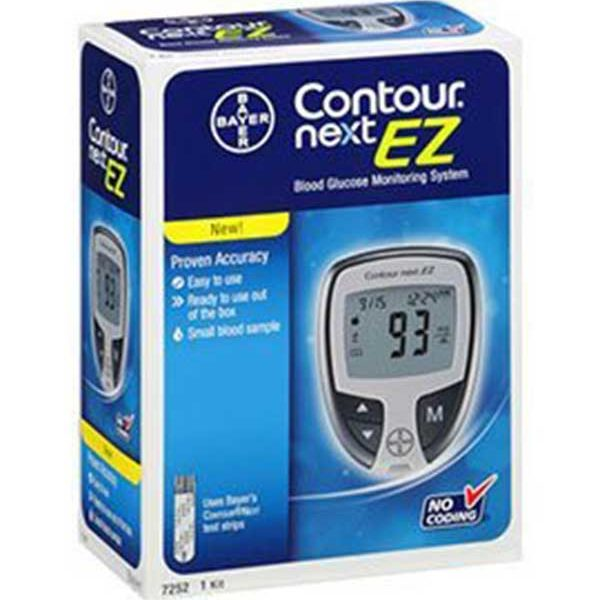 Bayer Contour Next Ez Glucose Monitoring System Diabetic