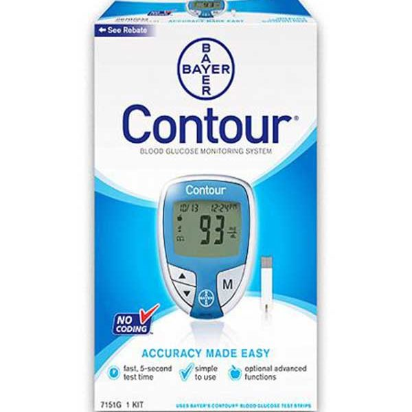 Bayer Contour Glucose Meter Kit Diabetic Outlet