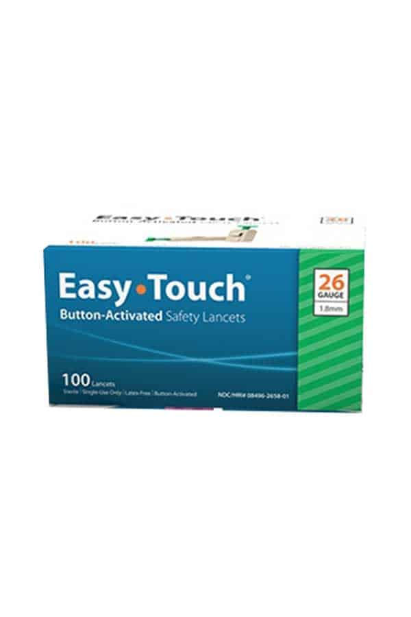 Easytouch Button Activated Safety Lancets 100ct
