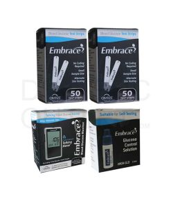 Embrace-test-strips-+-meter-+-control-solution-high-range